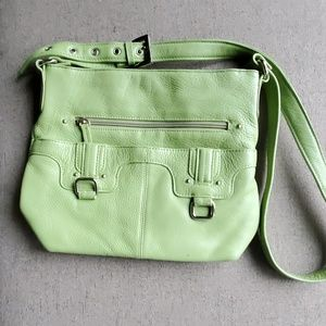 Stone Mountain leather crossbody purse
